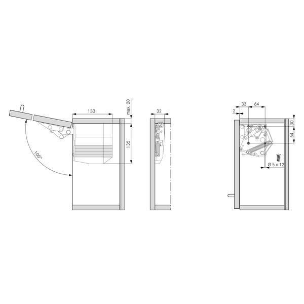 Cabinet Door Lift Up Mechanism : Kinvaro t grass mechanism for upper cabinets with lift
